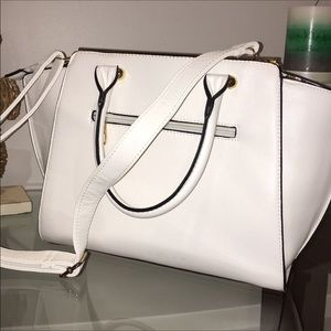 White Satchel Handbag
